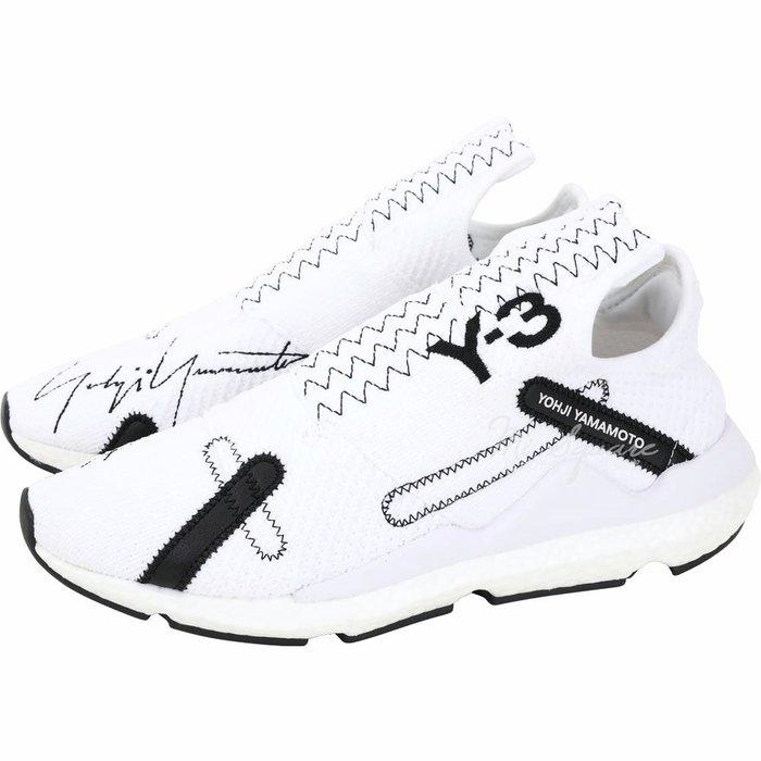 米蘭廣場 Y-3 Reberu 刺繡標誌彈性面料襪套運動鞋(男款/白色) 1920527-20