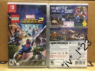 全新 Switch LEGO Marvel Super Heroes 2 (中文版)-Avengers 復仇者聯盟 3 迷必玩!
