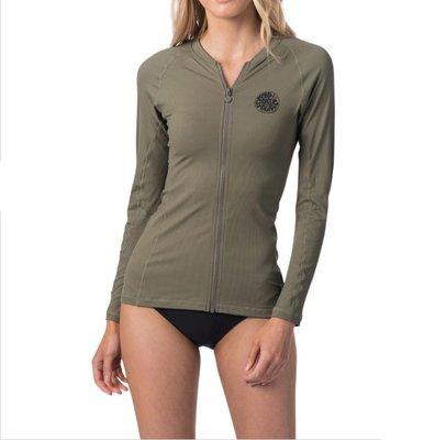 女防曬防磨衣 Rip Curl Premium Rib Zip Thru L/S UV Tee Rash Vest