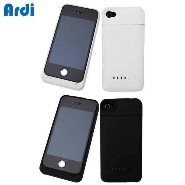 【Ardi雅帝】 iPhone4/4S 充電電池背蓋組(600i)黑色 (隨貨加送4/4S螢幕保護貼)