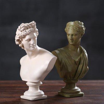 維納斯 希臘 阿波羅 王室 皇家 頭像 擺飾  裝潢 客廳 開店 歐式典雅 少女 雕刻 宮廷 【WQ 35】