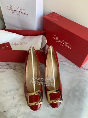 全新真品 Roger Vivier 漆皮經典紅色高根鞋 尺寸40 Patent Leather Pumps