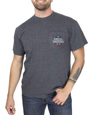 Harley-Davidson 哈雷機車 Fateful Path 短袖T恤 口袋T 木炭灰色 S M 全新 現貨
