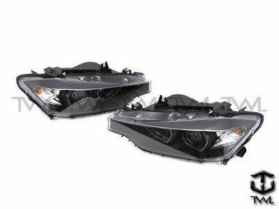 《※台灣之光※》全新BMW F30 12 13 14 15 16年美規328I鹵素升級黑底雙光版LED光圈魚眼投射大燈組