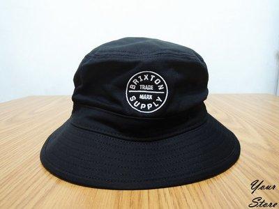 【Your Store】美牌 2019春季 Oath Bucket Hat 經典款 刺繡Logo 漁夫帽 黑色