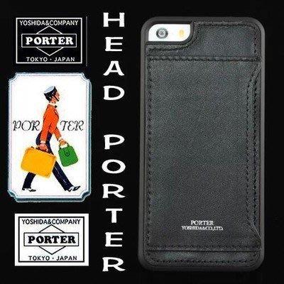 日本潮牌 Head Porter 蘋果iPhone X 8 7 6s plus手機殼 i8 plus保護套 插卡背皮殼