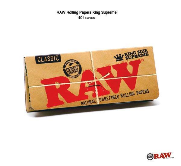 GOODFORIT /  西班牙RAW® Rolling Paper King Supreme霸氣包捲煙紙(40入)/非氯漂白天然製程/超薄緩燒
