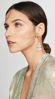 【全新正貨私家珍藏】TORY BURCH ROXANNE BEADED TASSEL EARRING 耳環(夾式款 )