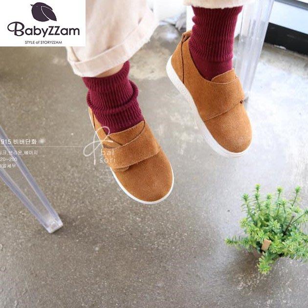 『※妳好,可愛※』妳好可愛韓國童鞋 BABYZZAM~正韓 時尚簡約休閒鞋 魔鬼氈休閒鞋 韓國童鞋