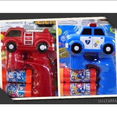 《鈺宅舖》泡泡槍 泡泡機系列 《電動》 可愛 消防車 警車 造型 泡泡槍 聲光 內含兩瓶泡泡水 交通造型 兒童 玩具 公園