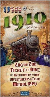 【陽光桌遊】鐵道任務:美國1910擴充 英文正版 滿千免運 Ticket to Ride:USA1910