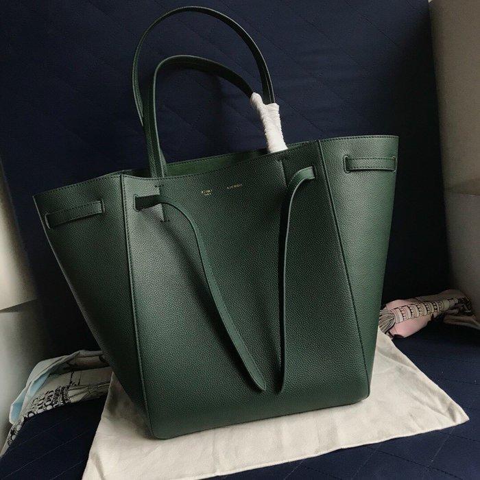 Melia 米莉亞代購 19ss Celine Cabags  phantom 手提購物包 抽繩水桶包 內里磨沙皮 綠色