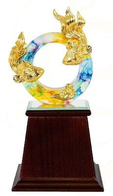 『府城畫廊-台灣工藝品區』水精琉璃-圓融-10x27-高質感擺飾-(關於我有油畫國畫賣場連結)-F004