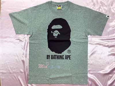 ✰Mia日系小舖✰【現貨】A BATHING APE BAPE 大猿人頭 TEE 短袖 T恤 灰 男款