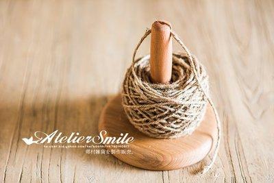[ Atelier Smile ] 鄉村雜貨 原櫸木手工實木 紙巾架 卷紙架 # 原木斷繩款 (現+預)