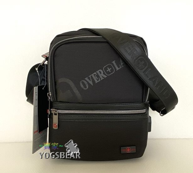 【YOGSBEAR】 直立式 USB充電包 OVERLAND 十字軍 側背包 斜背包 平板袋 5616 中