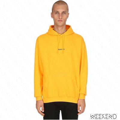 【WEEKEND】 FUCK ART MAKE TEES FAMT Wake Up 連帽 衛衣 帽T 黃色