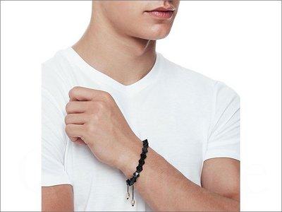 官網 真品 A|X Armani Exchange AX 亞曼尼 阿曼尼 型男 三角錐狀 手鍊 手環 黑色 另有金色