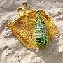 【LA Boutique】韓國東大門 海灘度假網眼麻繩手工編織手提袋 (大)