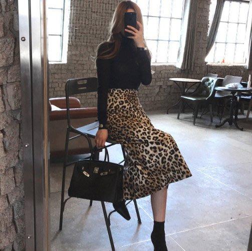 【2A Two】東大門✺高腰 顯瘦 豹紋長裙 包臀裙『381012006』