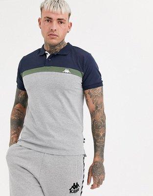 代購Kappa panelled logo polo shirt氣質拼色短袖POLO衫XS-2XL