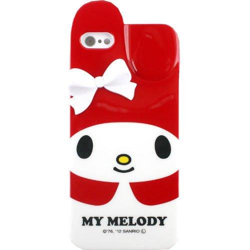 尼德斯Nydus~* 日本正版 Melody 美樂蒂 軟殼 手機殼 iphone5 5S 立體蝴蝶結  -紅