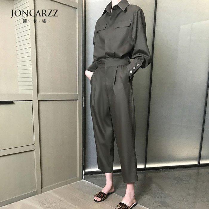 褲裝 #2098  立體工裝 寬鬆顯瘦九分褲