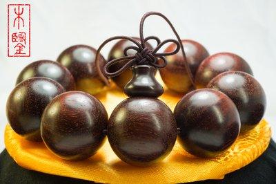 Zitan Bracelet 正宗頂級老料印度小葉紫檀手串1.8CM 收藏鑑賞送禮皆宜