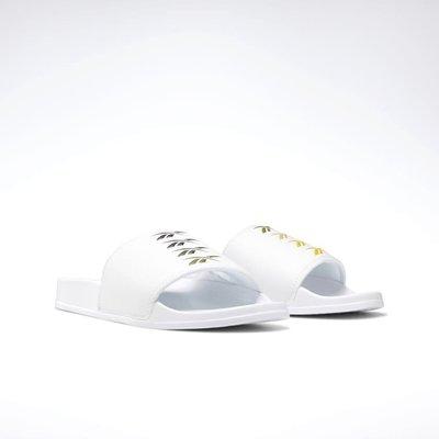 =CodE= REEBOK CLASSIC SLIDE 防水皮革拖鞋(白漸層) DV9407 輕量復古 大LOGO 男女