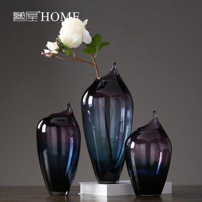 〖洋碼頭〗現代簡約玻璃花瓶擺件 家居客廳創意時尚炫彩插花花器 小號 ywj368