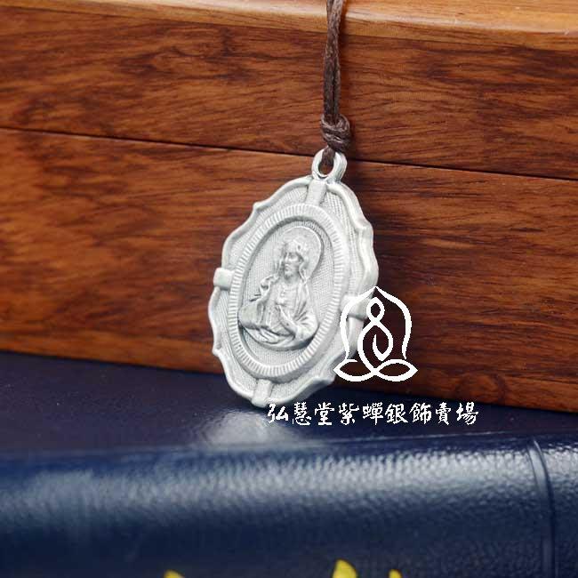 【弘慧堂】 意大利進口耶穌聖心聖牌3cm 天主教聖物 耶穌基督 新款精品