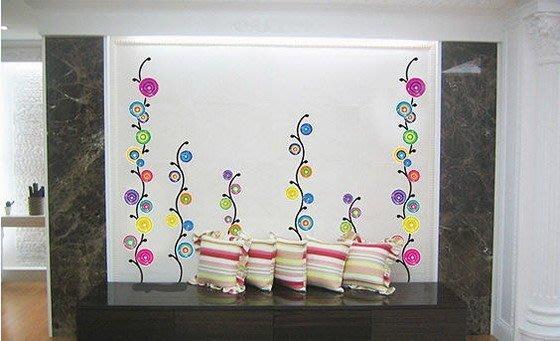 【皮蛋媽的私房貨】韓國進口壁貼&壁紙*室內設計/裝飾*普普風彩色圈圈-彩色棒棒糖