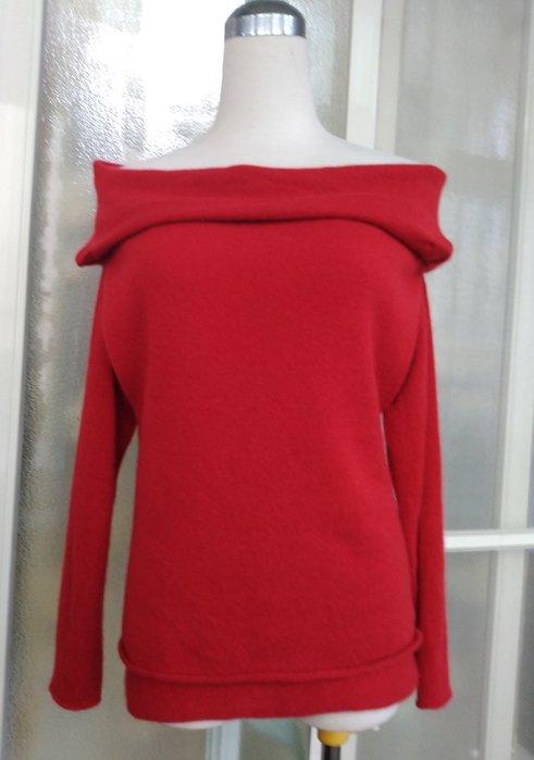 義大利名牌ENIGMA 100% CASHMERE喀什米爾 羊絨 造型長袖毛衣