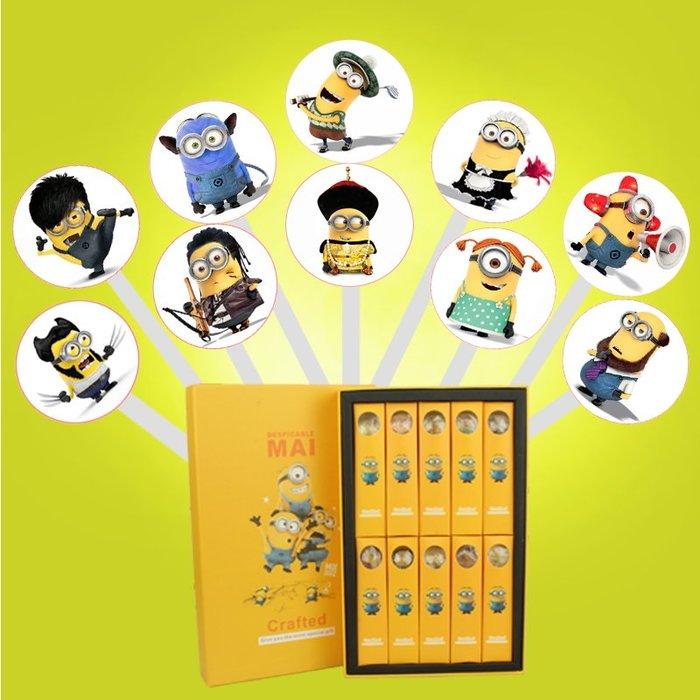 美國創意糖果小黃人手工卡通系列星空棒棒糖情人節禮物10支禮盒裝