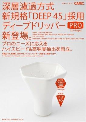 【豐原哈比店面經營】日本 DEEP DRIPPER PRO DD-45 深層過濾器 3~7人份 錐形咖啡濾杯
