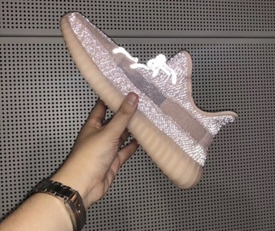 [限量代標US9 27] Yeezy Boost 350 Reflective synth全反光滿天星亞洲粉