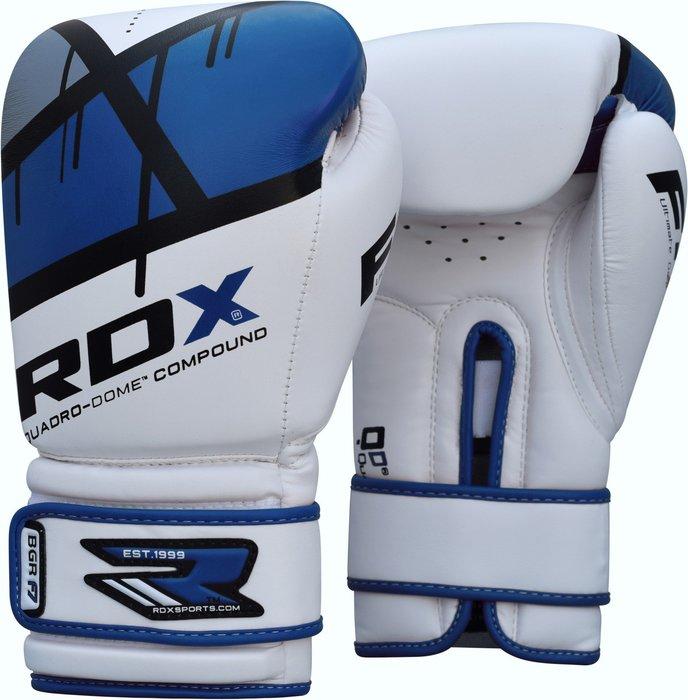 【神拳阿凱】RDX 英國 BGR-F7U QUADRO-DOME 拳擊手套 藍 白(免運)