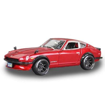 新風小鋪-美馳圖1 18仿真合金汽車改裝版尼桑240Z跑車模型道奇戰馬RT肌肉車