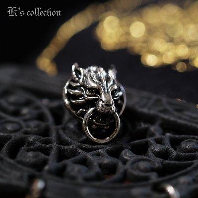 奧嘉精品設計 K's Collection 925純銀飾 古典狼首銜環耳環 中國風 東方