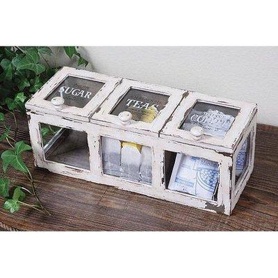 ♥愛戀の姬系雜貨♥法式藝術仿古SUGAR TEAS COFFEE 木製储物盒