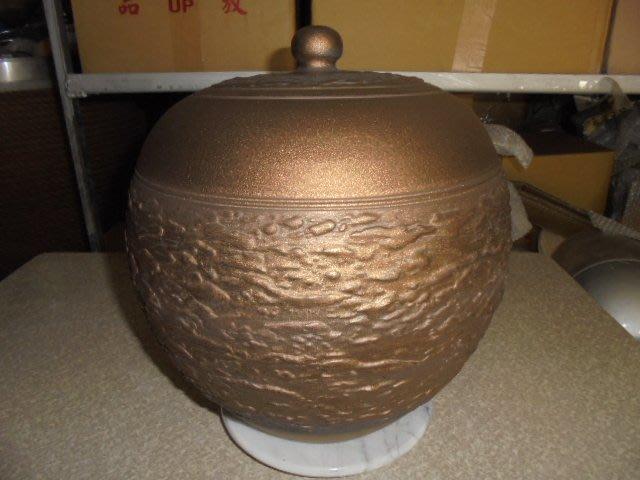 頂級紅土4號 約15斤 手拉坏 茶葉罐 普洱茶 罐 老茶 醒茶 米甕 聚寶盆 收納罐 #5貴氣金