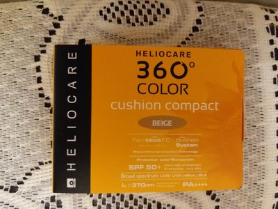 Heliocare 360° Cushion Compact SPF50(Beige ) 防曬氣墊粉底霜SPF50+ $12  2g5合$50