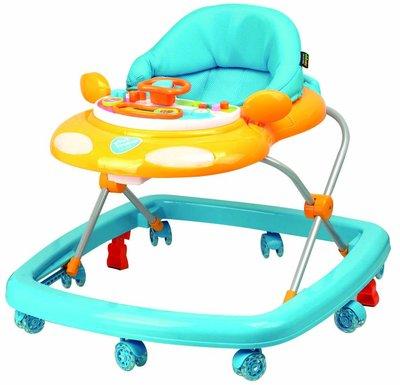 《凱西寶貝》Vivibaby汽車造型學步車 Car Baby Walker ( 藍橘 )