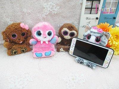 ☆[Hankaro]☆歐美流行爆款動物造型毛絨手機座
