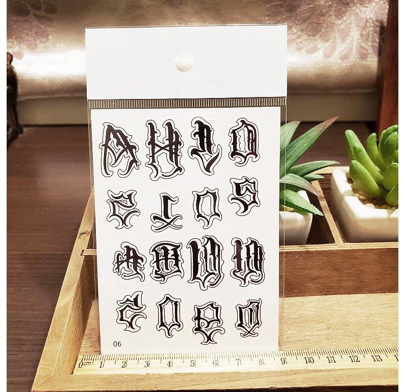 【萌古屋】】個性英文 - 手背防水紋身貼紙刺青貼紙06 K12