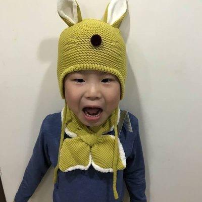 正韓貨 [現貨]保暖童帽圍巾組 抗寒必備 帽子 圍巾各一 適合2-5歲小女生小男生配戴