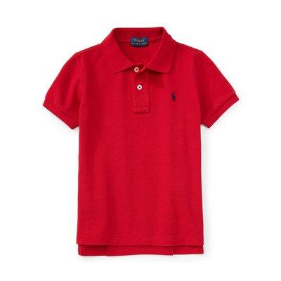 美國百分百【全新真品】Ralph Lauren 網眼 RL 男生 小馬 Polo衫 短袖 上衣 紅色 S號 B007