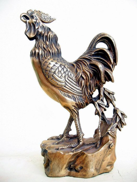 大型銅雕公雞---已請老師開光點睛加持並附上安置吉課及安置說明