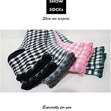 【4雙】S-SOCKs-格紋花邊系列-中長襪子/短襪/棉襪/女襪/男襪/學生襪/長襪/船型襪/隱形襪/可愛襪/毛襪