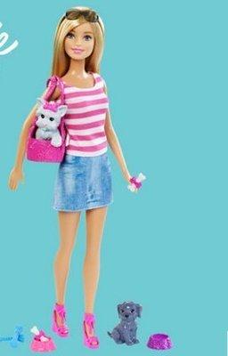 【興達生活】芭比娃娃Barbie芭比之萌寵套裝 女孩玩具 生日禮物
